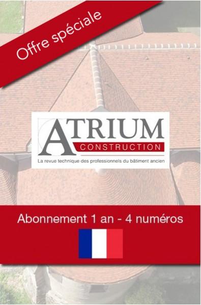 Atrium Construction - Abonnement 1 an - 4 numéros + 1 hors-série